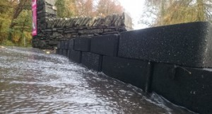 Flexible Flood Defence Blocks in action