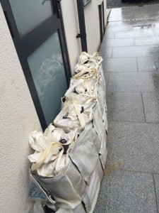 Mini Flood Wall Bags protecting a doorway